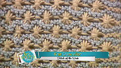 Knit Dandelion Stitch