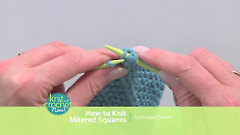 How to Knit Mitered Squares