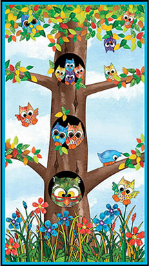 "Owl in the Family Panel - 22 1/2"" x 40"""
