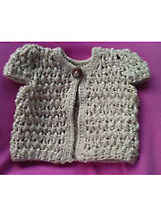 Crocheted Doll Cardigan