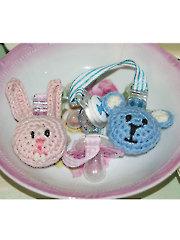Crocheted Binky Fobs