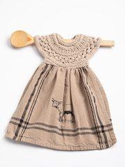 Gansey Knit Towel Topper