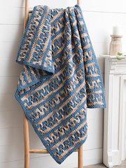 Greek Key Mosaic Crochet Blanket