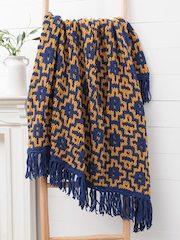 Mosaic Diamonds Knit Blanket
