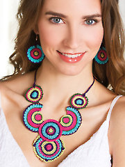 Boho Circles Necklace & Earrings