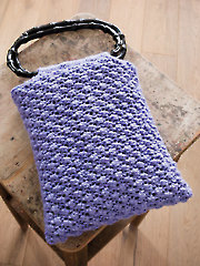 Raspberry Stitch Loom-Knitted Bag