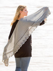 Cable Edged Shawl
