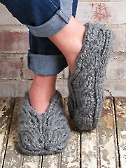 Chunky Cable Slippers