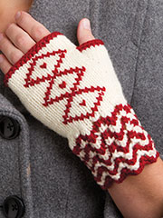 Embroidered Fingerless Mitts