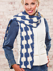Midnight Snowballs Scarf