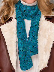 Yarn Over Cross Scarf
