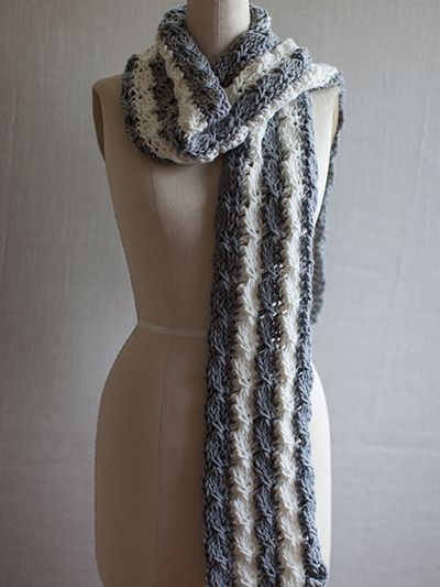 Tunisian Mock Cable Scarf