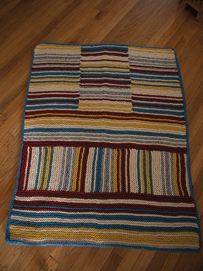 Striped Knit Rug