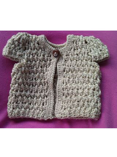 Free Cardigan knitting pattern for the Make-Along doll - Wee ... | 533x400