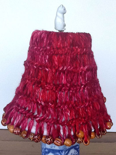 Beaded Hairpin Lace Lampshade