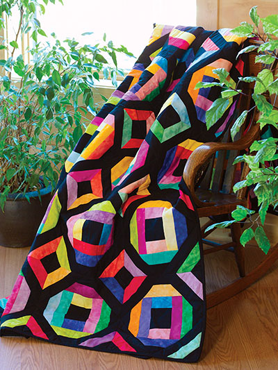 Stained Glass Diamonds Quilt