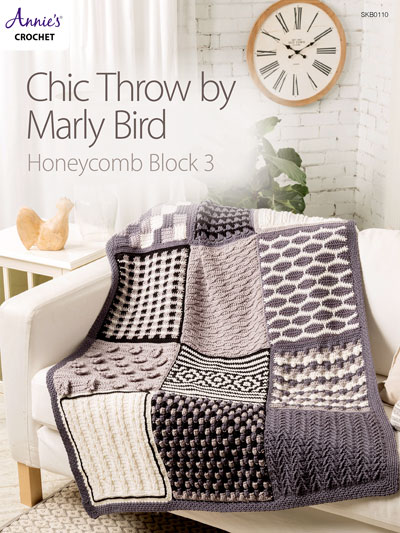 Chic Throw by Marly Bird: Honeycomb Block 3