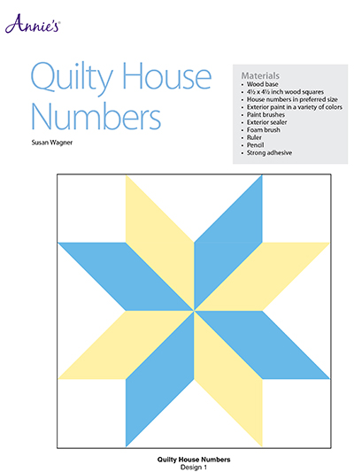 Quilty House Numbers