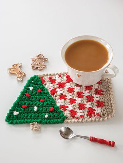 Under the Tree Crochet Mug Rug