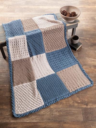 Verity Block Knit Afghan