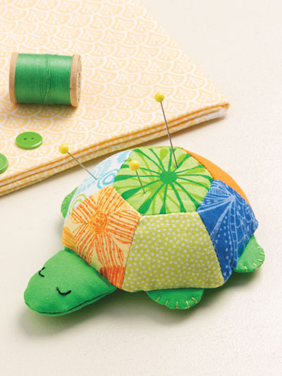 Sleepy Turtle Pincushion