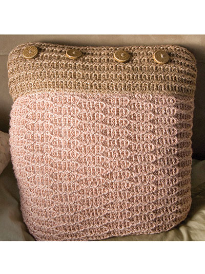 Crochet Cabled Pillow