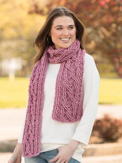 Crazy for Cables Scarf