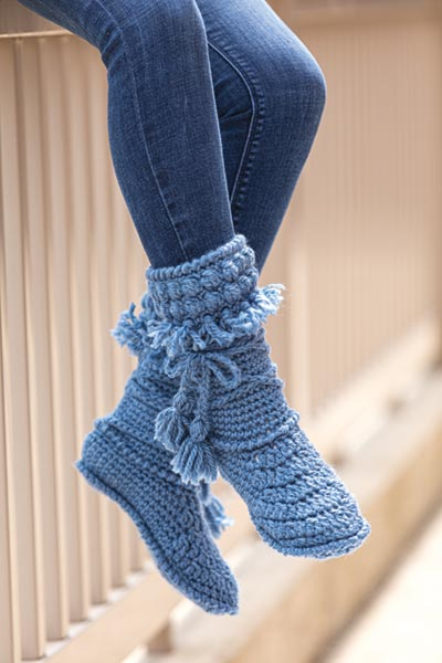 Mukluk Crochet Booties
