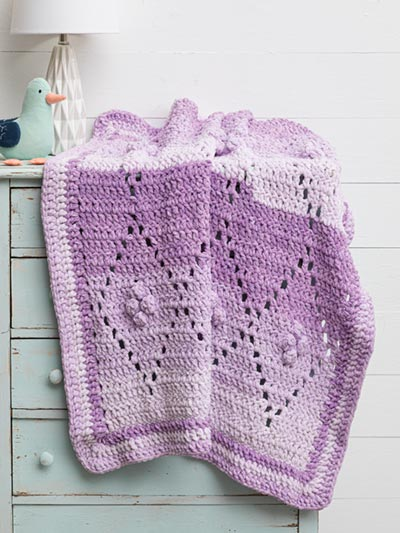 Diamond Filet Crochet Blanket