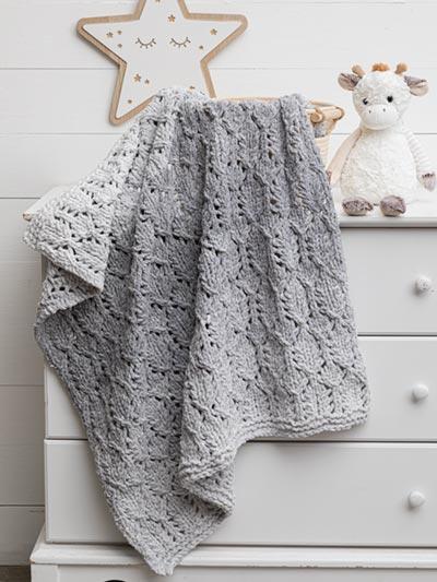 Knit Lofty Lacy Baby Blanket