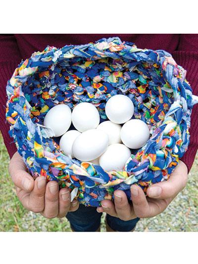 Crochet Fabric Bowl