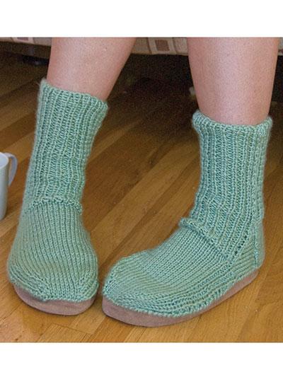 Knitted Slipper Socks