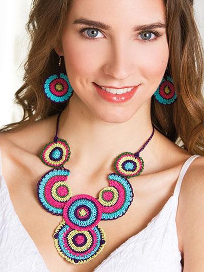 Boho Circles Necklace & Earrings