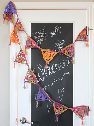 Crocheted Party Banner