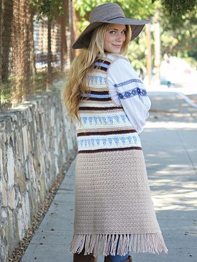 Boho Crochet Vest