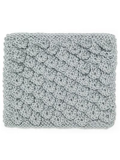 Knit Crocodile Stitch