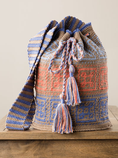 Drawstring Tapestry Bag