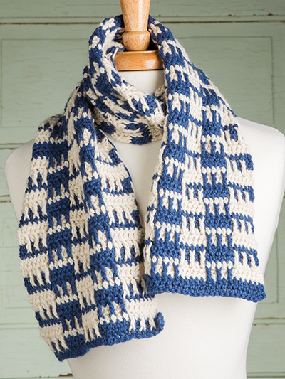 Checkerboard Squares Scarf