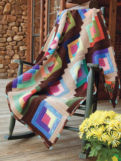 Scrap Secrets: Log Cabin Scrapghan