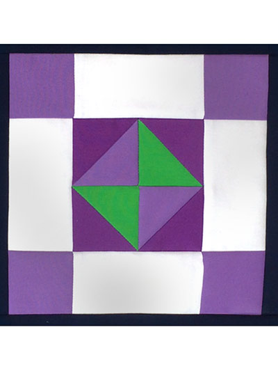Midnight Mystery Quilt: Fair & Square Block 1