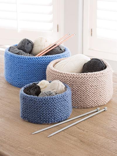 Garter Stitched Baskets