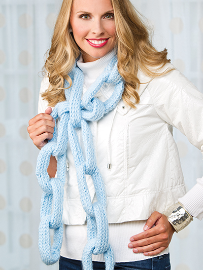 Loom-Knit Chain Link Scarf