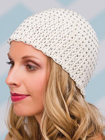 Crochet Beaded Cap