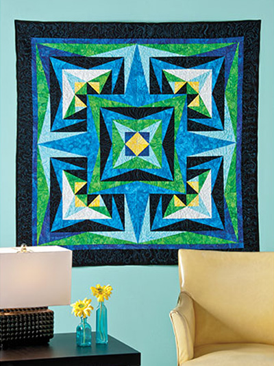 Learn to Paper Piece: Four-Point Compass Quilt