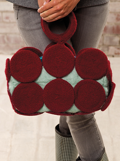 Felted Circle Purse