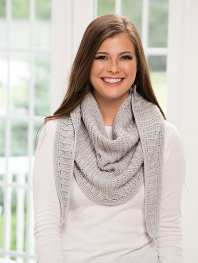 Simply Elegant Crescent Shawl