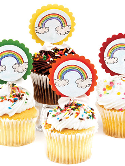 Rainbow Cupcake Picks