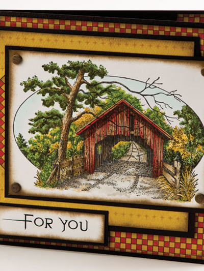 Covered Bridge For You Card