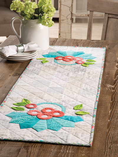 Dresden Flower Baskets Table Runner