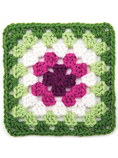 Granny Square Repair Swatch
